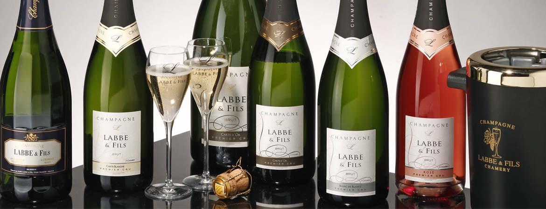 Bouteilles de champagne Labbé